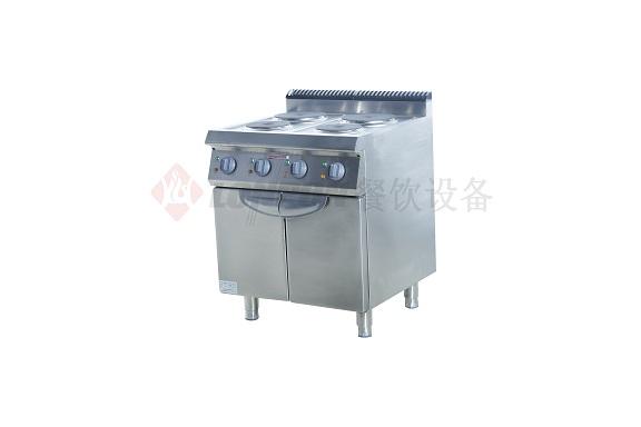 西式电热四头煮食炉连柜(圆盘)