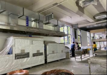 商用厨房设备----西铁机关食堂厨房设备安装啦!!