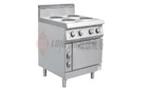 电四头煮食炉连柜圆头连焗炉